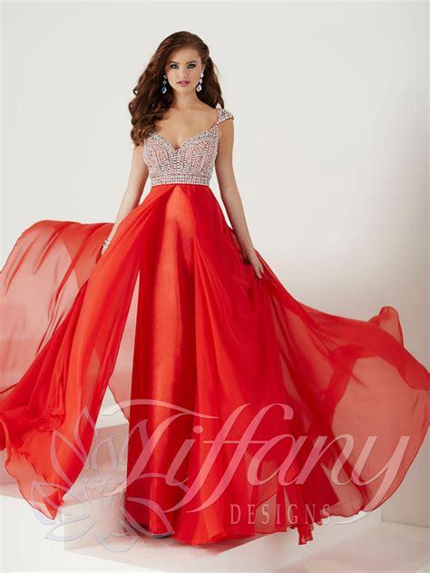 design prom dress tiffany designs 16194 prom dress prom gown 16194