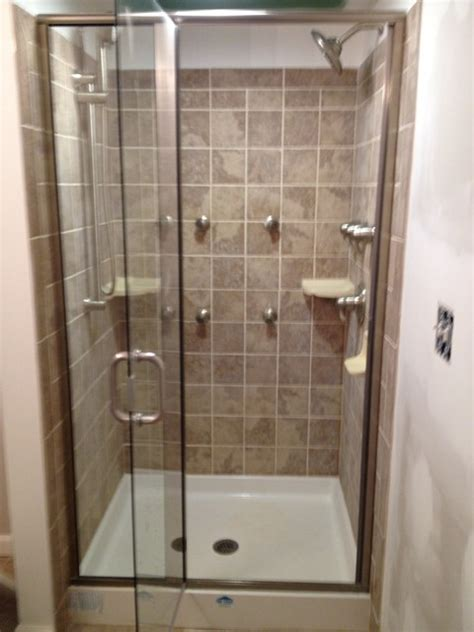 moen 4 spray head tiled shower bena maryland