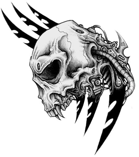 tattoo png zip download tribal skull tattoos transparent hq png image
