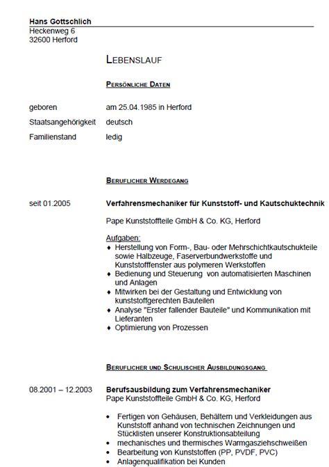 Bewerbungsschreiben Ausbildung Verfahrensmechaniker Bewerbung Verfahrensmechaniker Kunststoff Kautschuktechnik Gek 252 Ndigt Berufserfahrung