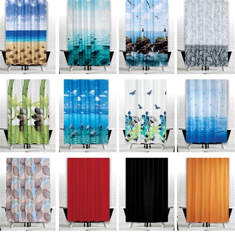 do shower curtains come in different lengths extra wide fabric shower curtains different designs