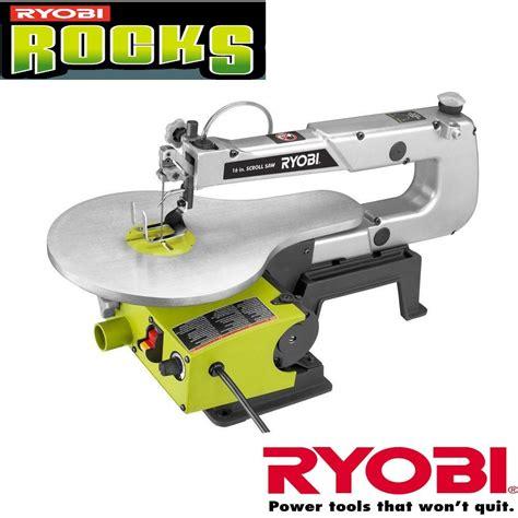 refurbished ryobi table saw ryobi sc165vs 16 variable speed scroll saw zrsc165vs