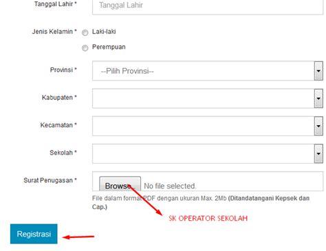 email kemdikbud cara registrasi operator sekolah di sdm pdsp sukamentri 6