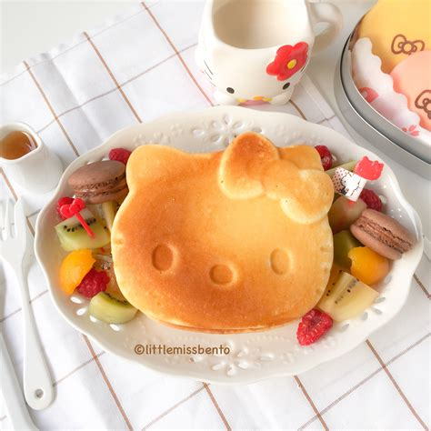 cara membuat pancake hello kitty hello kitty pancakes bento little miss bento