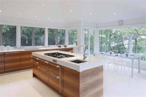 Center Island Designs For Kitchens Centre Island House Contemporary Kitchen Other Metro By Charles J Nafie Architects