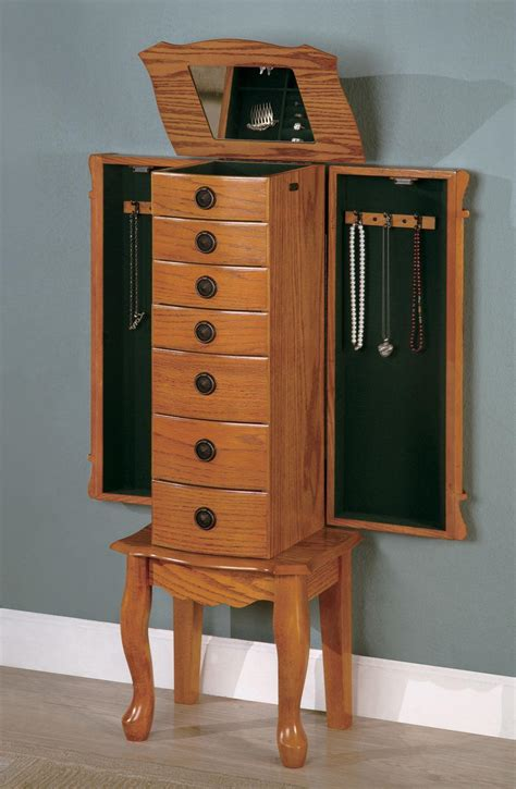 cs135 jewelry armoire 900135 coaster furniture jewelry
