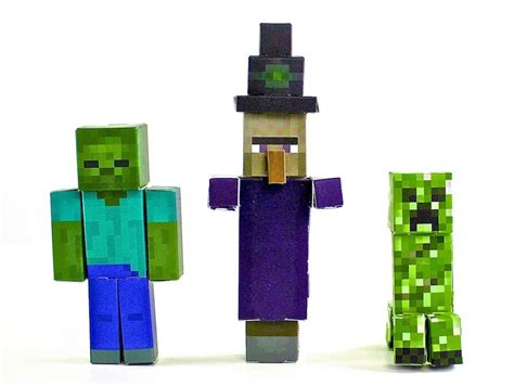 Minecraft Papercraft Toys - minecraft paper craft hostile mobs pack