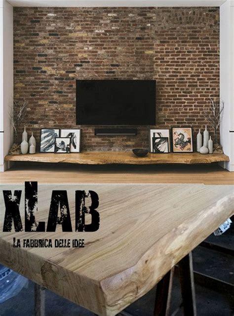 mensola per tv mensola porta tv da parete in legno massello con frontale