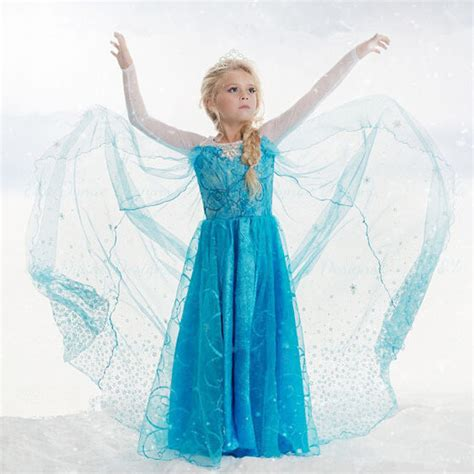 Dress Elsa New T1310 new summer elsa princess dress children dress