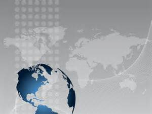 silver 3d globe and world map ppt backgrounds 3d blue