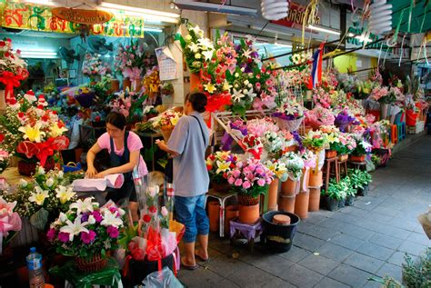 fiori thailandesi il mercato dei fiori a bangkok pak khlong talat a