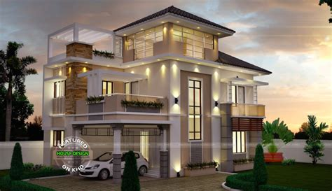 5 Bedroom 4 Bathroom House Plans by Unusually Modern Three Storey House Home Design