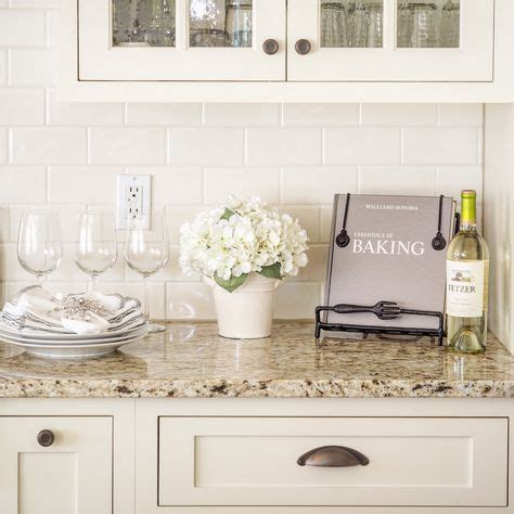 off white subway tile kitchen backsplash venetian gold light granite with off white subway tile and