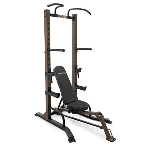 fold up workout bench steelbody exercise power tower and fold up bench stb 98502
