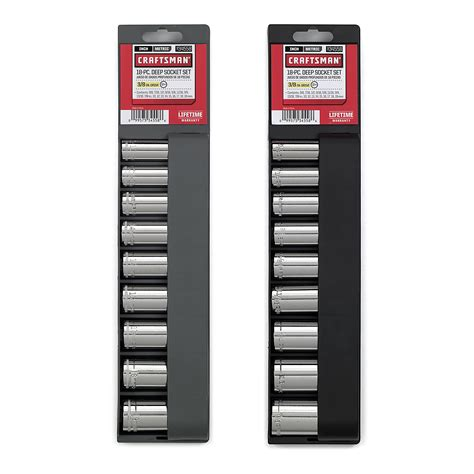 Tekiro Socket Set 18 Pcs 3 8 Inch 6 22 Mm 6pt Sock Set craftsman 18 pc 12 pt 3 8 in socket accessory set