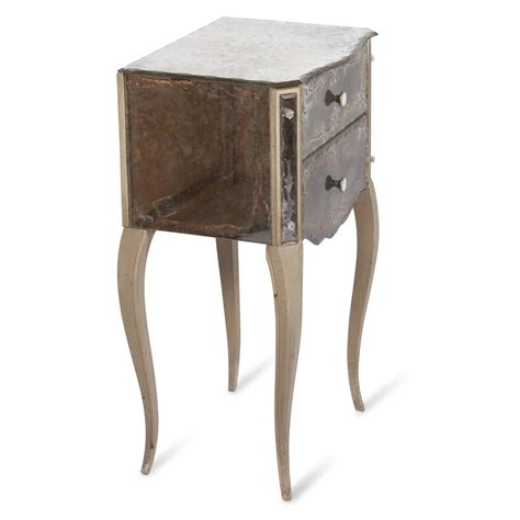 Mirrored Glass Nightstand Mirrored Glass Nightstands By Marchand American 1940s For Sale At 1stdibs