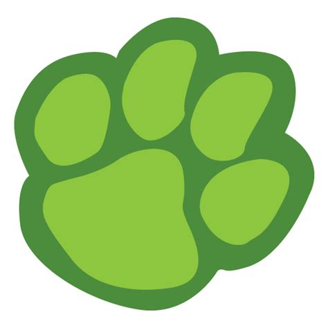 tiger paw template paw print template clipart best