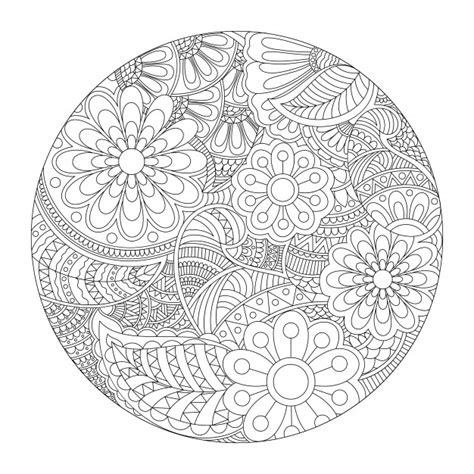 decorative vintage pattern with floral elements vector beautiful rounded mandala design with ethnic floral