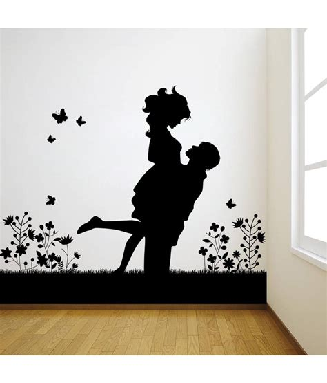 Wall Stickers Buy Online decor kafe black decal style lovely couple wall sticker