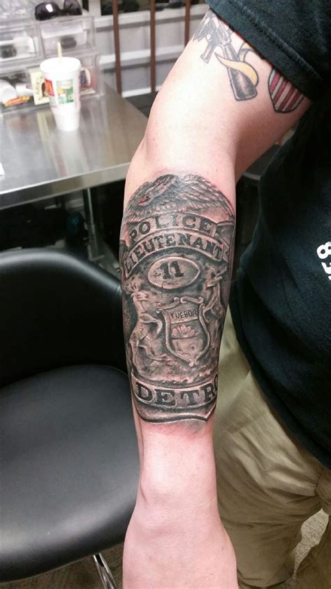 police badge tattoo designs badge done by lil chris houston t a f