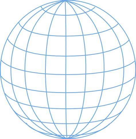 Parallelgraphics Outline 3d by Big Blue Wire Globe Clip At Clker Vector Clip Royalty Free Domain
