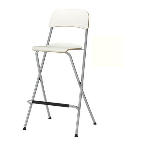 FRANKLIN Bar stool with backrest, foldable   74 cm   IKEA
