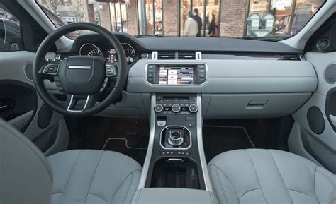 land rover evoque interior car and driver