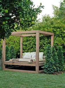 Bed Frame Yard Outdoor Lounging Spaces Daybeds Hammocks Canopies And