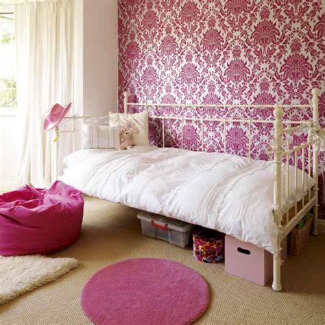 wall wallpaper for bedroom how to create a feature wall in girls bedrooms wallpaper
