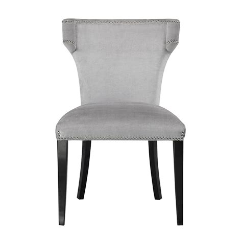 grey velvet dining chair xcella
