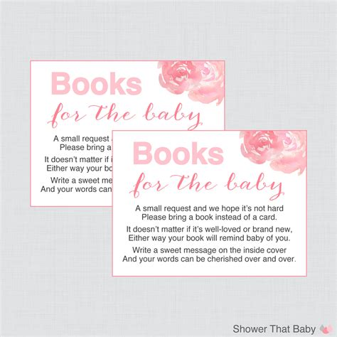 book instead of card baby shower baby shower bring a book instead of a card invitation inserts