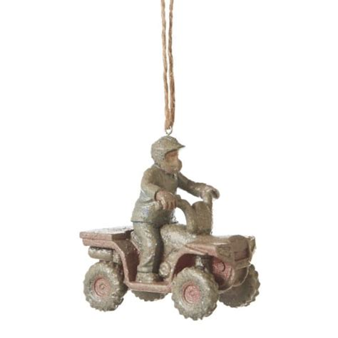 mudder 4 wheeler atv christmas ornament