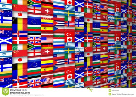 flags of the world background flags background royalty free stock photo image 34294535