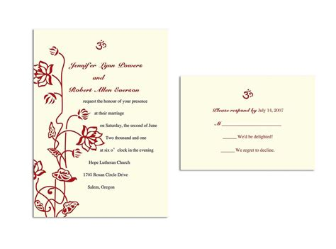 wedding response card template wedding invitations response cards wedding invitations