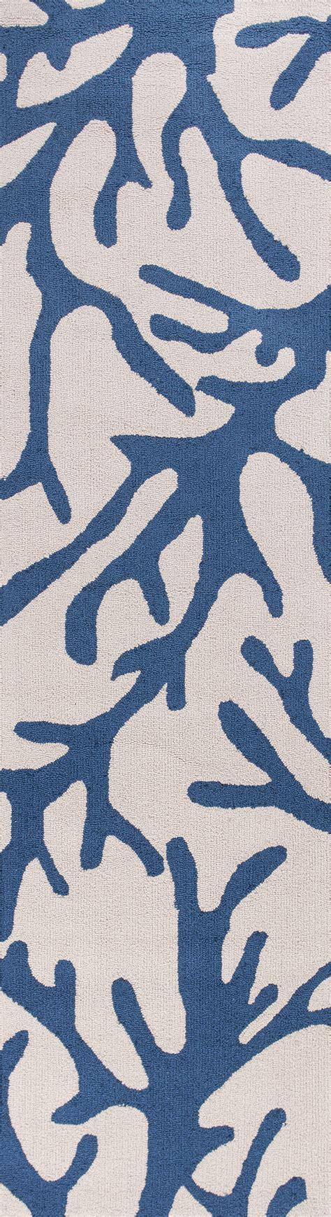 blue and coral rug kas sonesta 2037 ivory blue coral area rug