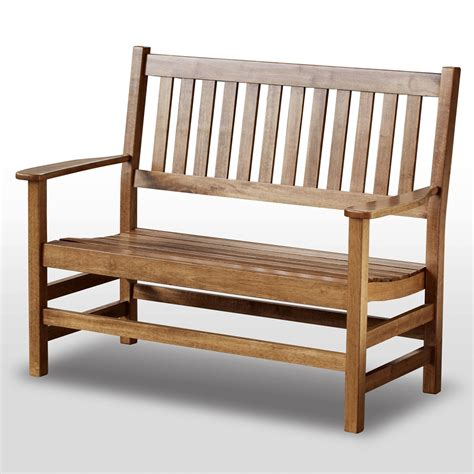 plantation 49 cottage style bench slatted maple stain
