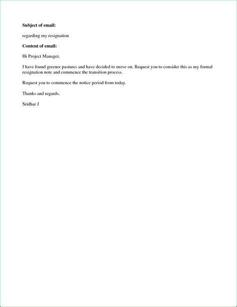 Resignation Letter In Simple Format Simple Resignation Letter Format Sle Doc