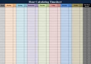 Calendar Calculator Hours Hourly Calendar Template 2016