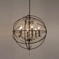 orb chandelier with crystals copy cat chic restoration hardware foucault s orb