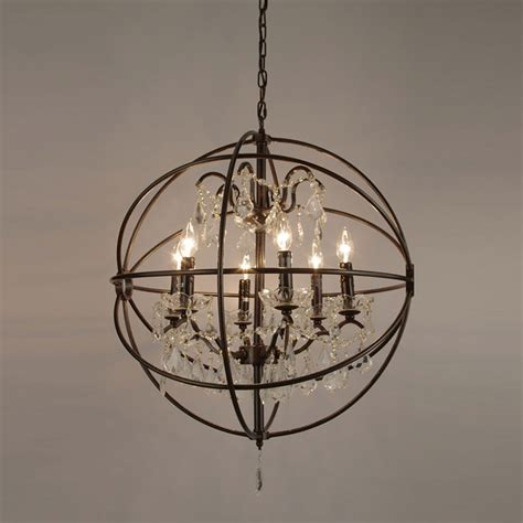 Restoration Chandelier Restoration Hardware Foucault S Orb Iron Chandelier Copy Cat Chic
