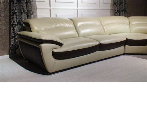 Divani Leather Sofa Dreamfurniture Divani Casa K8468 Contemporary Leather Sectional Sofa