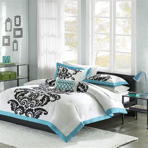 white and teal comforter black and turquoise bedroom panda s house