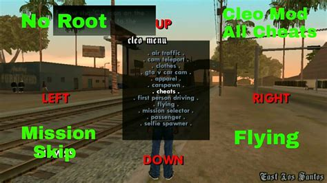 mod game without root cleo mod cheats for gta san andreas android without root