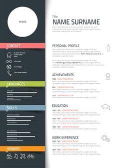 graphic design cv exle simple clean infographic timeline resume design for