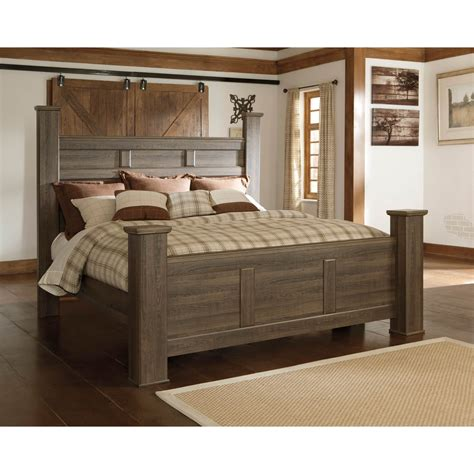 ashley beds signature design by ashley juararo king poster bed beds
