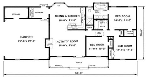 1300 Square Feet 3 Bedrooms 2 Batrooms 2 Parking Space Open House Plans 1300 Sq Ft