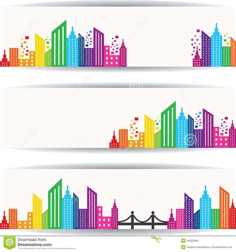 design free stock photo illustration of a colorful abstract colorful real estate design for website banner