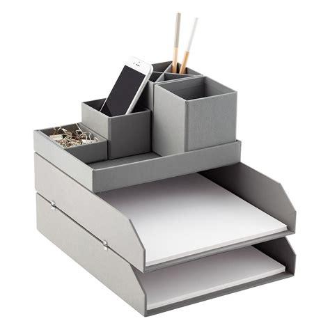 container store desk organizer bigso grey stockholm desktop organizer the container store