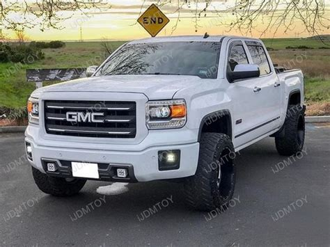 2015 gmc sierra fog lights 2014 2015 gmc sierra 1500 40w high power led fog light kit