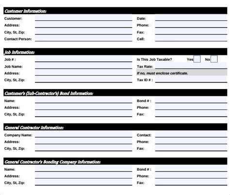Sample Job Sheet Template   8   Free Documents In PDF